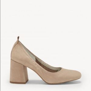 NWOT 1.State Madene Leather Tan Block Heel 8.5